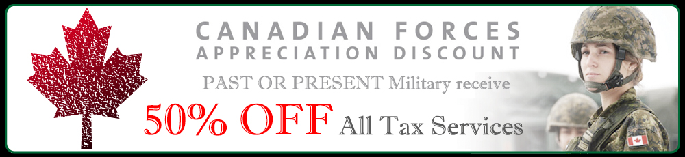 We Support Canadian Forces Personnel with 50% OFF